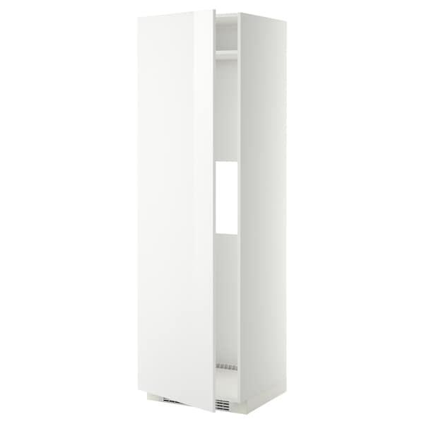 METOD Armario alto para frigo/congelador, blanco/Ringhult blanco, 60x60x200 cm