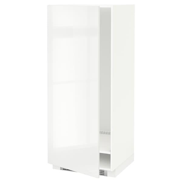 METOD Armario alto frigorífico congelador, blanco/Ringhult blanco, 60x60x140 cm