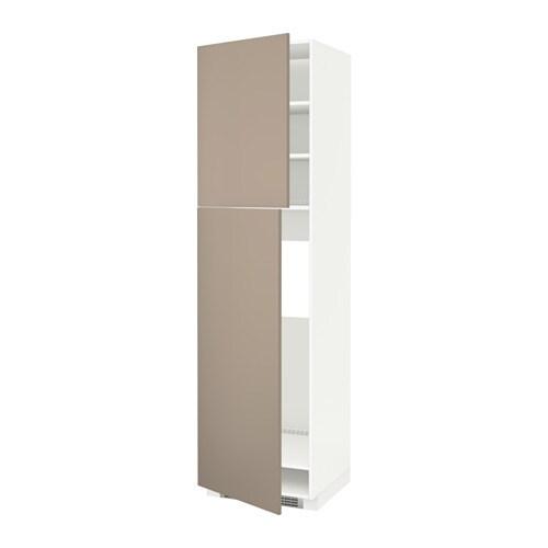 Metod armario alto frigor fico 2 puertas blanco ubbalt for Armario 2 puertas ikea
