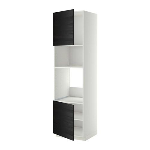 Metod armario alto horno micro 2 puertas blanco for Armario 2 puertas ikea