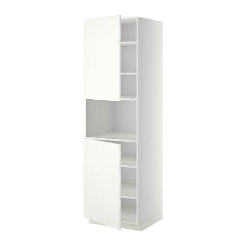 METOD Armario alto microondas 2 puertas Blanco/häggeby blanco 60 x ...