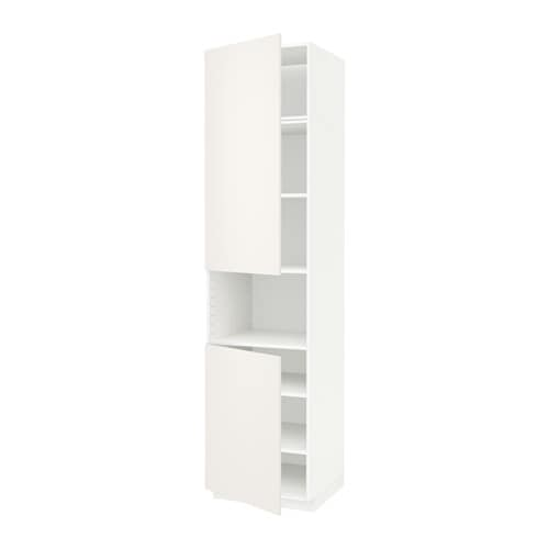 Metod armario alto microondas 2 puertas veddinge blanco - Armario para microondas ...