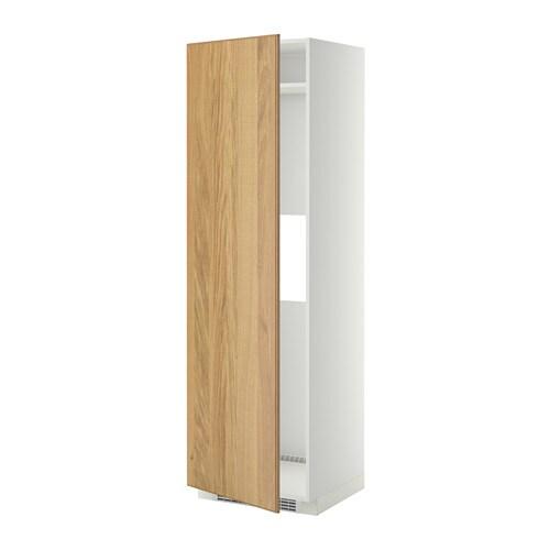 Artesanato De Jornal Como Pintar ~ METOD Armario alto para frigo congelador blanco, Hyttan chapa roble IKEA