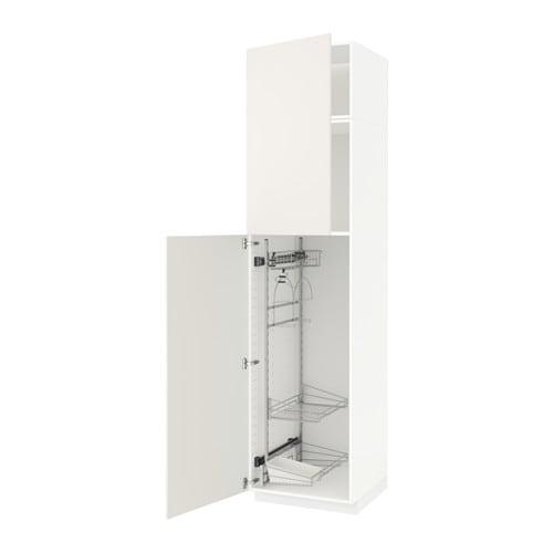Artesanato De Jornal Como Pintar ~ METOD Armario alto para limpieza Veddinge blanco, 60x60x240 cm IKEA
