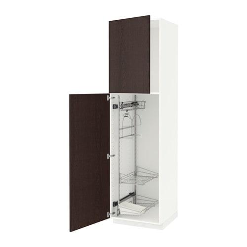 METOD Armario alto para limpieza Ekestad marrón, 60x60x220 cm IKEA