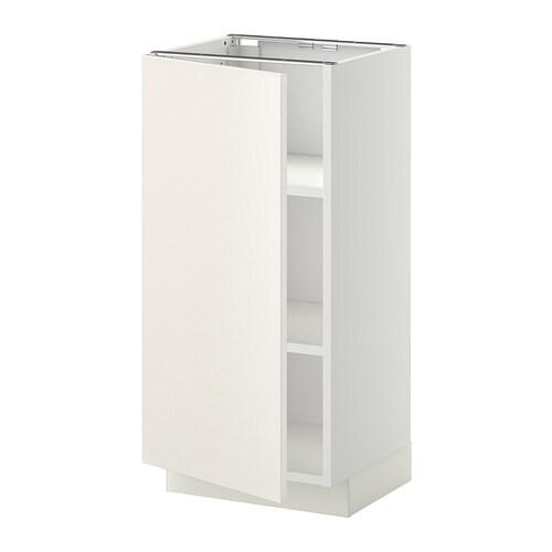 Metod armario bajo cocina con baldas veddinge blanco for Ikea baldas cocina