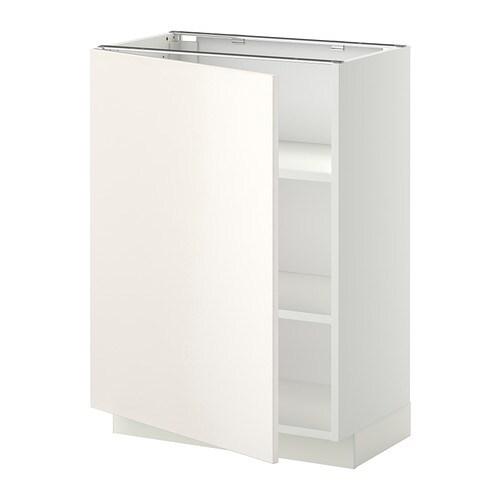 Metod armario bajo cocina con baldas blanco veddinge for Ikea baldas cocina