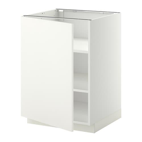 Metod armario bajo cocina con baldas blanco h ggeby - Armario con baldas ...