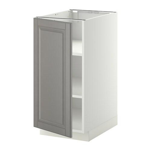 metod armario bajo cocina con baldas blanco bodbyn gris