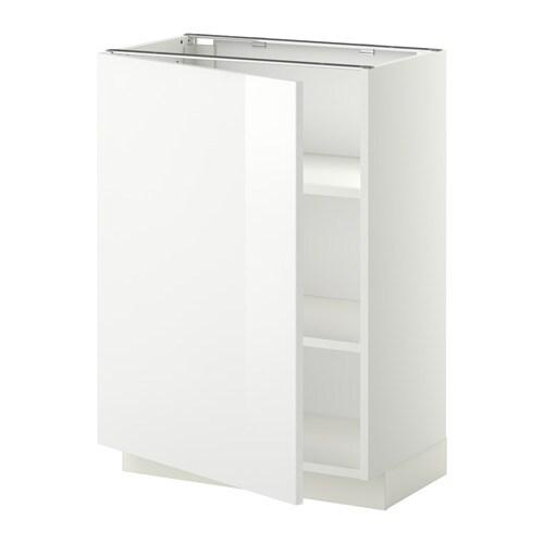 Metod armario bajo cocina con baldas blanco ringhult for Ikea muebles cocina bajos