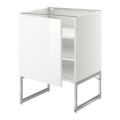 Metod armario bajo cocina con baldas blanco ringhult alto brillo blanco 60x60x60 cm ikea - Armarios de cocina ikea ...