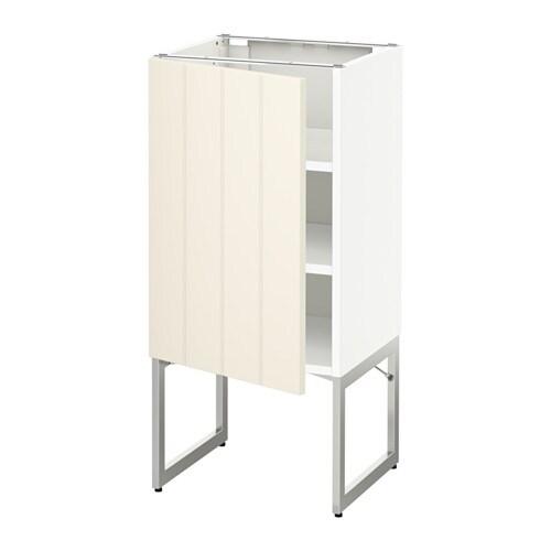Metod armario bajo cocina con baldas blanco hittarp for Ikea baldas cocina