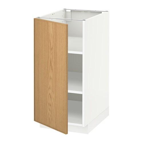 Metod armario bajo cocina con baldas blanco ekestad - Armario con baldas ...