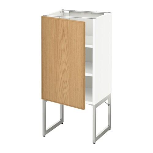 Metod armario bajo cocina con baldas blanco ekestad for Ikea baldas cocina