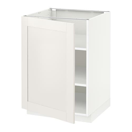Metod armario bajo cocina con baldas blanco s vedal - Armario con baldas ...