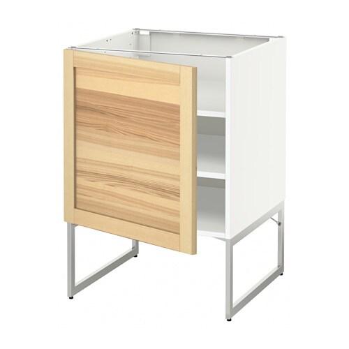 Metod armario bajo cocina con baldas blanco torhamn for Ikea baldas cocina