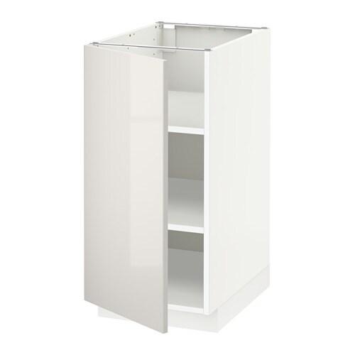 Metod armario bajo cocina con baldas blanco ringhult - Armario con baldas ...
