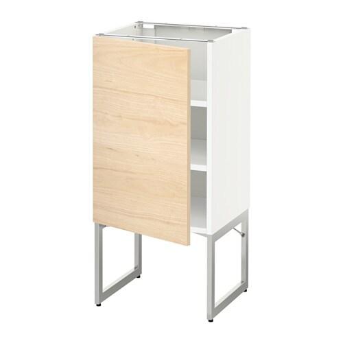 Metod armario bajo cocina con baldas blanco askersund for Ikea baldas cocina