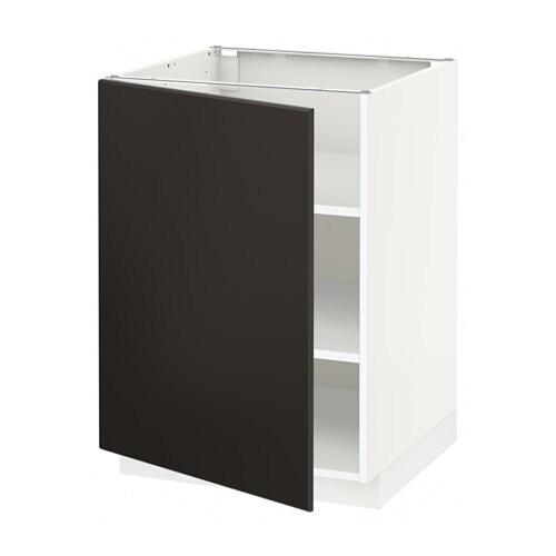 Metod armario bajo cocina con baldas kungsbacka for Ikea muebles cocina bajos