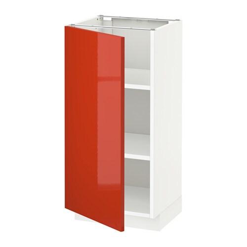 Metod armario bajo cocina con baldas j rsta alto brillo - Ikea baldas cocina ...