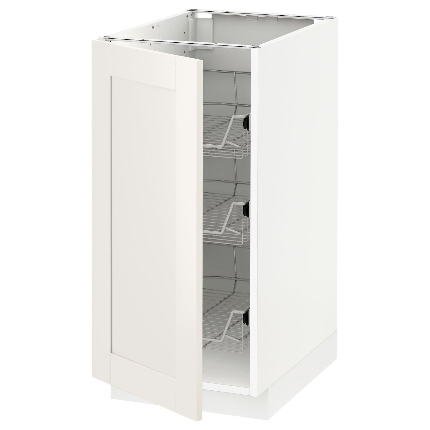 METOD Armario bajo cocina con cestos Blanco/sävedal blanco 40 x 60 ...