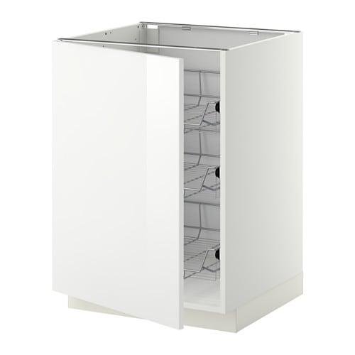 Metod armario bajo cocina con cestos blanco ringhult for Armarios bajos de cocina