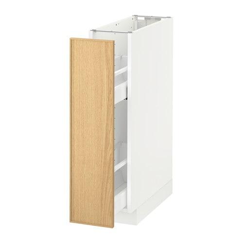 Metod armario bajo cocina extra ble blanco ekestad roble ikea - Armarios de cocina ikea ...