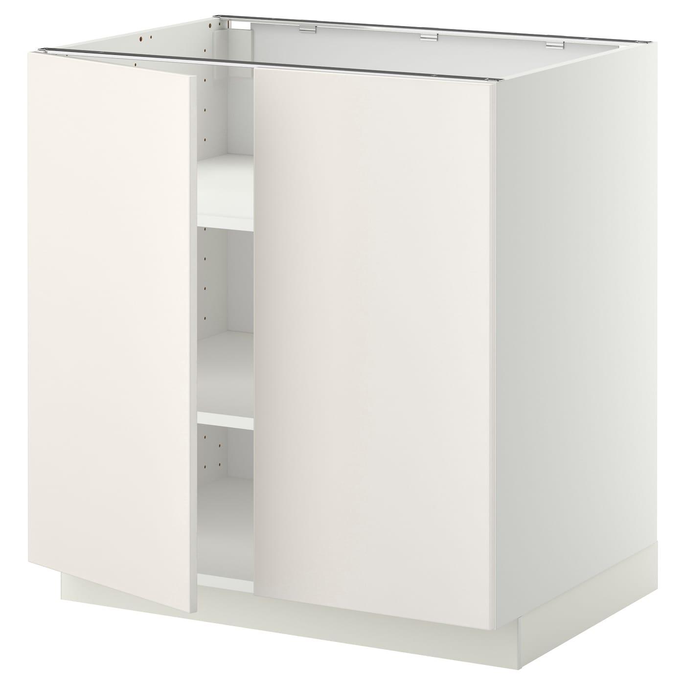 metod armario bajo cocina puertas baldas blanco veddinge blanco 80 x 60 cm ikea. Black Bedroom Furniture Sets. Home Design Ideas