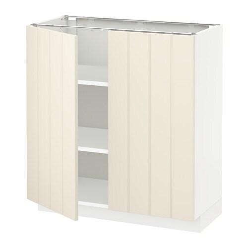 Metod armario bajo cocina puertas baldas blanco hittarp for Armarios bajos de cocina