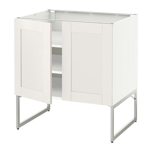 Metod armario bajo cocina puertas baldas blanco s vedal for Ikea baldas cocina