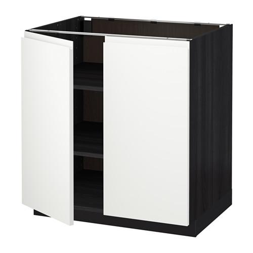 Metod armario bajo cocina puertas baldas efecto madera for Armarios bajos de cocina