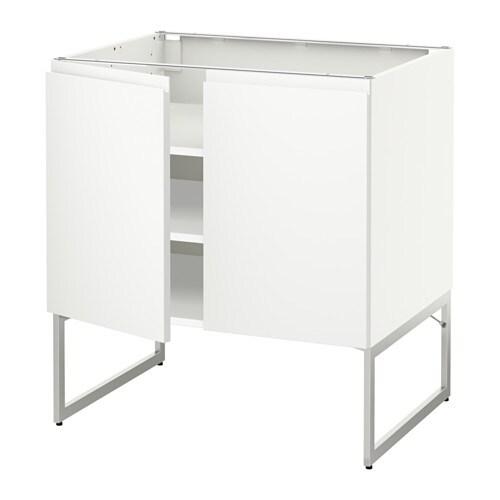 metod armario bajo cocina puertas baldas blanco voxtorp