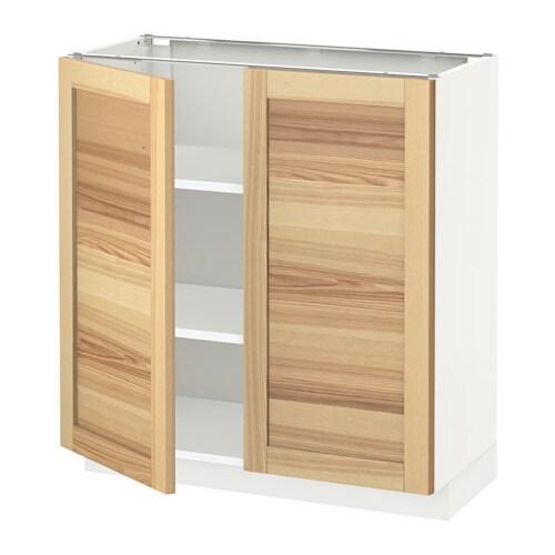Metod armario bajo cocina puertas baldas torhamn natural for Puertas muebles de cocina ikea