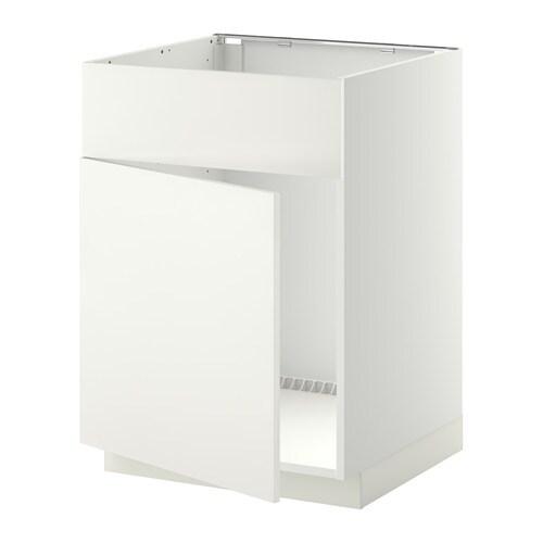 Metod armario bajo para fregadero puerta h ggeby blanco for Organizador bajo fregadero ikea