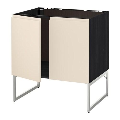 Metod armario bajo para fregadero puertas efecto madera for Organizador bajo fregadero ikea