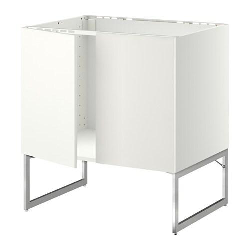 Metod armario bajo para fregadero puertas blanco for Organizador bajo fregadero ikea