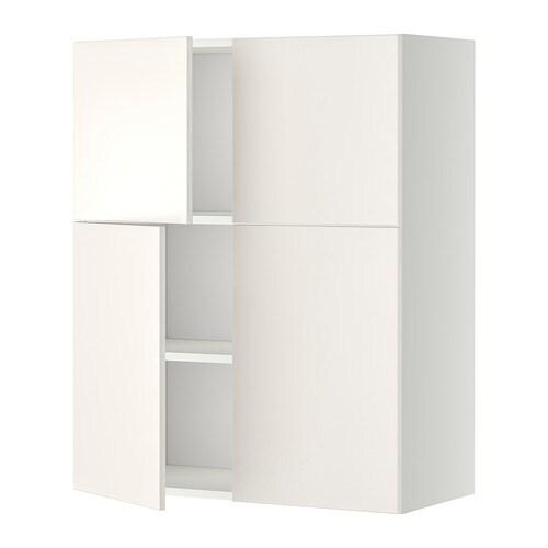 Metod armario de pared baldas y puertas blanco veddinge - Baldas armario ikea ...