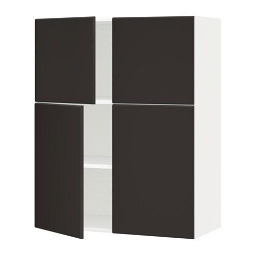 Metod armario de pared baldas y puertas blanco - Baldas armario ikea ...