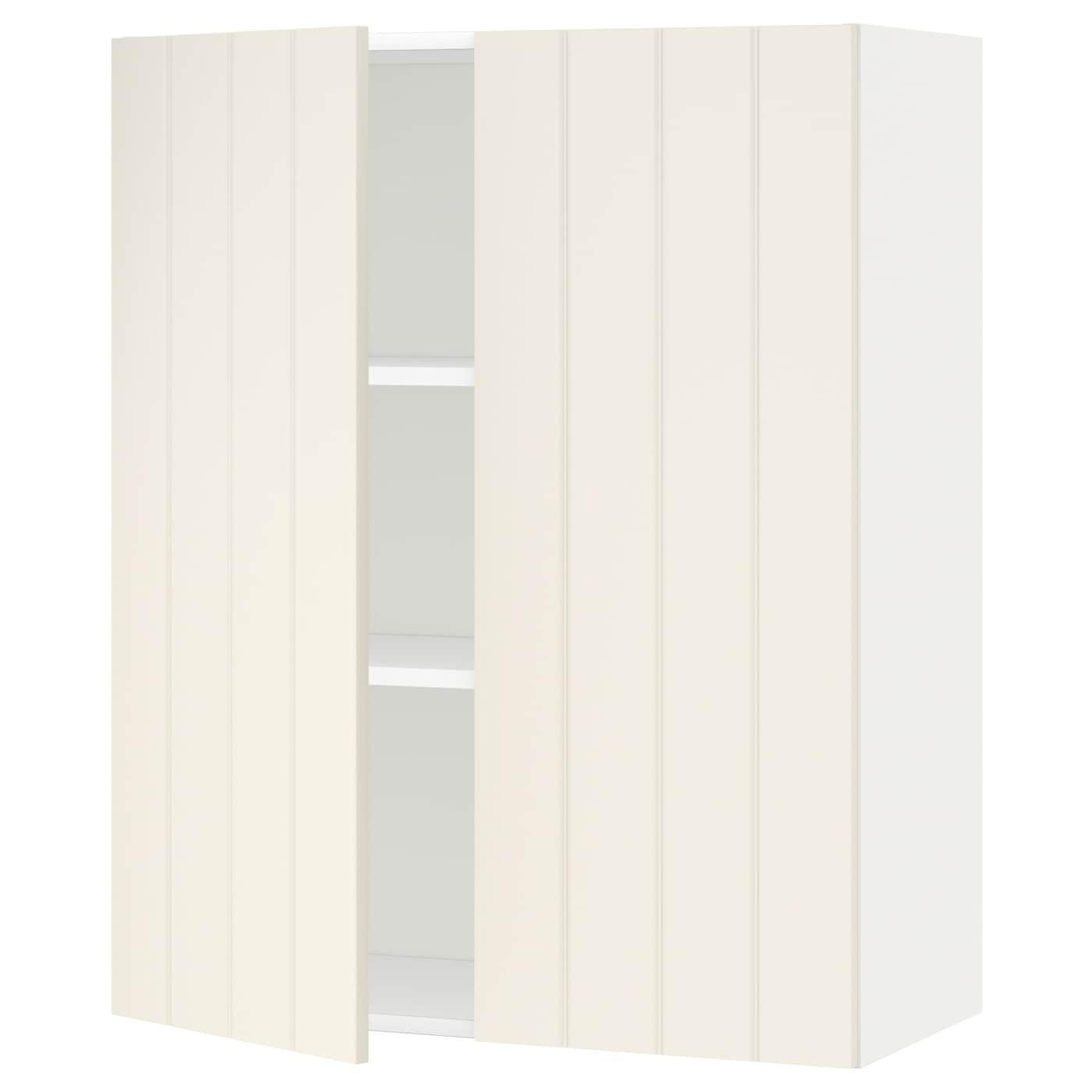 Metod armario de pared cocina con baldas blanco hittarp hueso 80 x 100 cm ikea - Armarios de cocina ikea ...