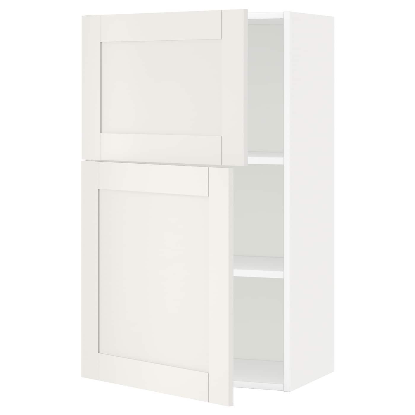 METOD Armario de pared cocina con baldas Blanco/sävedal blanco 60 x ...
