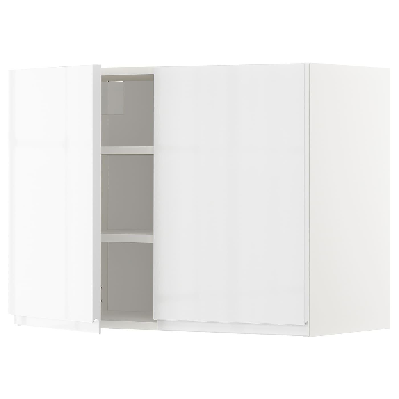 Metod armario de pared cocina con baldas blanco voxtorp alto brillo blanco 80 x 60 cm ikea - Ikea armarios de cocina ...