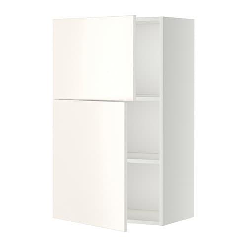 Metod armario de pared cocina con baldas veddinge blanco ikea - Armarios de cocina ikea ...