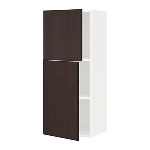 Metod armario de pared cocina con baldas blanco ekestad marr n 40x100 cm ikea - Armarios de cocina ikea ...