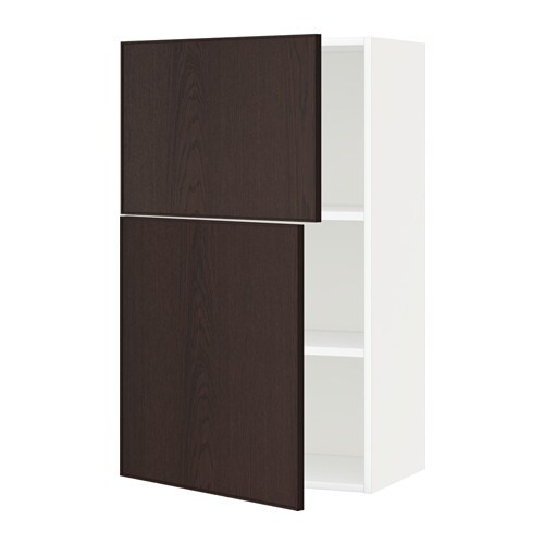 Metod armario de pared cocina con baldas blanco ekestad - Armario con baldas ...