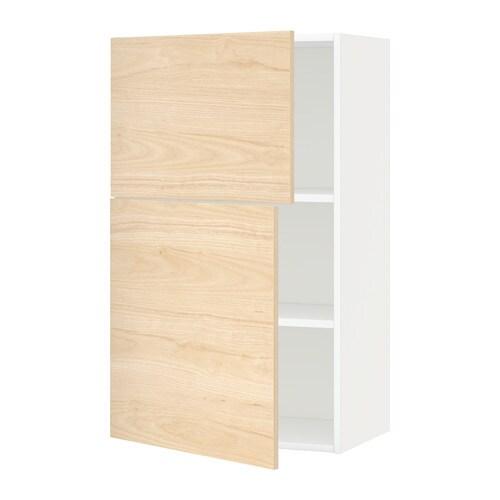Armario Pared Cocina Ikea : Metod armario de pared cocina con baldas blanco
