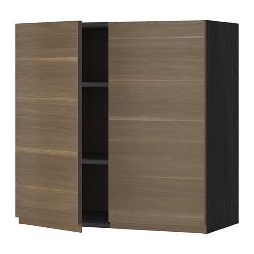 Metod armario de pared cocina con baldas efecto madera - Baldas armario ikea ...