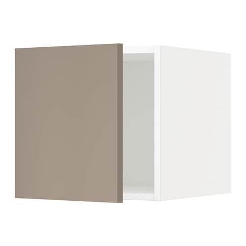 Metod armario de pared cocina con puerta blanco ubbalt beige oscuro ikea - Armarios de cocina ikea ...