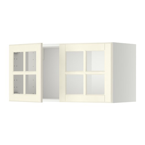 Metod armario de pared cocina con puertas bodbyn hueso - Frente cocina ikea ...