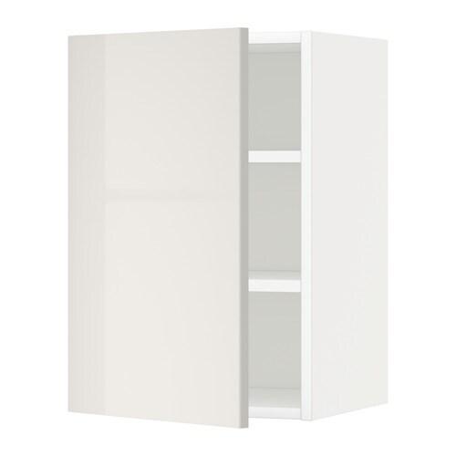 Metod armario de pared con baldas blanco ringhult gris - Cultivo interior ikea ...