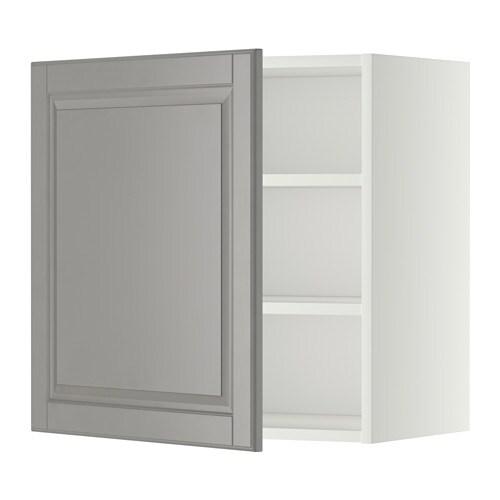 Metod armario de pared con baldas blanco bodbyn gris - Baldas armario ikea ...